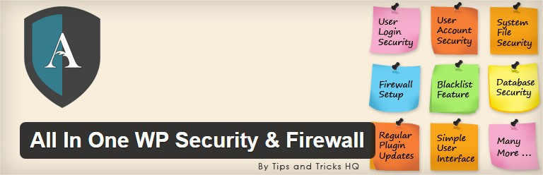 Plugin wordpress All In One WP Security & Firewall