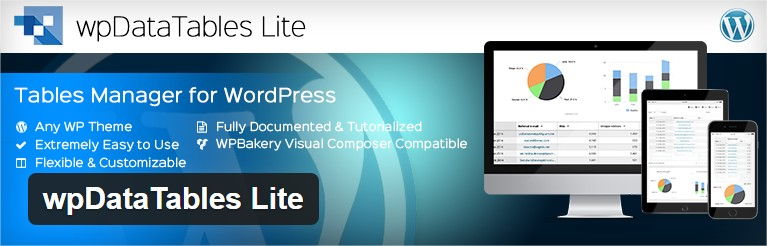wpDataTables Lite plugin tableaux wordpress